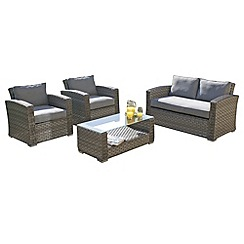 Debenhams - Grey 'Victoria Kingston' 2-seater sofa, coffee table and 2 armchairs