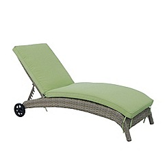Debenhams - Brown 'Milan' sun lounger