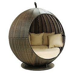 Debenhams - Brown 'LA Apple' outdoor daybed