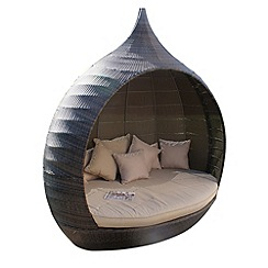 Debenhams - Brown 'LA Pear' outdoor daybed