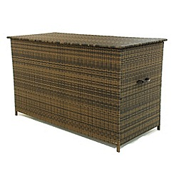 Debenhams - Brown 'LA' outdoor storage box