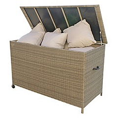Debenhams - Beige 'Winchester' outdoor storage box
