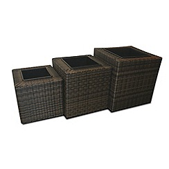 Debenhams - Brown 'LA' square planters