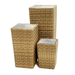 Debenhams - Beige 'Winchester' set of planters