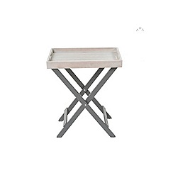 Debenhams - Grey 'Verdi' garden folding butler tray