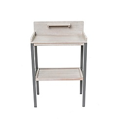 Debenhams - Grey eucalyptus wood 'Verdi' potting table