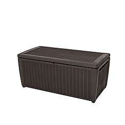 Debenhams - Brown rattan effect 'Celtic' garden storage box