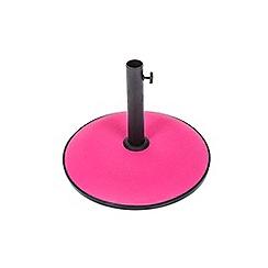 Debenhams - Bright pink concrete 15kg parasol base