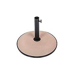 Debenhams - Taupe concrete 15kg parasol base