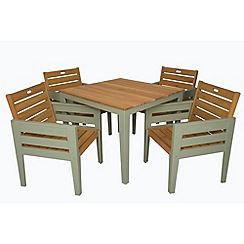 Debenhams - Green 'Verdi' table and 4 chairs