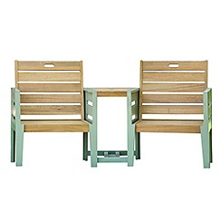 Debenhams - Green 'Verdi' duo bench