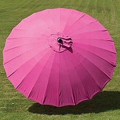 Debenhams - Fuchsia pink 'Geisha' 2.7m parasol
