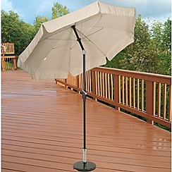 Debenhams - Beige 'Norfolk' 2.7m parasol with valance
