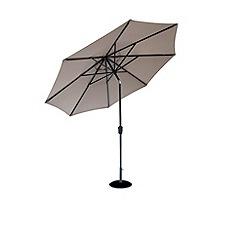 Debenhams - Taupe and grey 'Elizabeth' 2.7m parasol