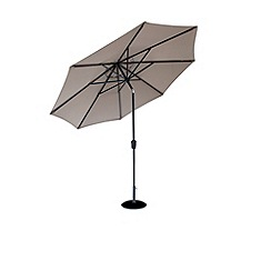 Debenhams - Taupe and grey 'Elizabeth' 3m parasol