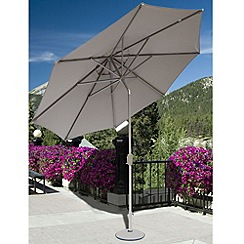 Debenhams - Taupe and cream 'Elizabeth' 2.7m parasol