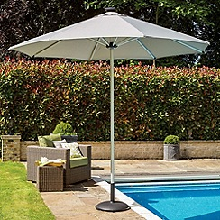Debenhams - Grey 'Palma' remote-controlled parasol