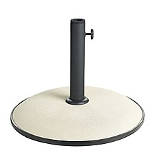 Debenhams - Cream concrete 15kg parasol base