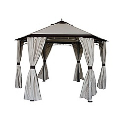 Debenhams - Cream 'Denver' 6-sided gazebo