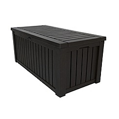 Debenhams - Brown wood effect 'Rockwood' outdoor storage box