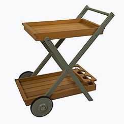 Debenhams - Green 'Verdi' outdoor tea trolley