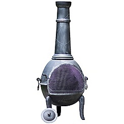 La Hacienda - Extra-large steel Aspen chimenea with grill