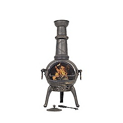 La Hacienda - Large cast iron chimenea with grill