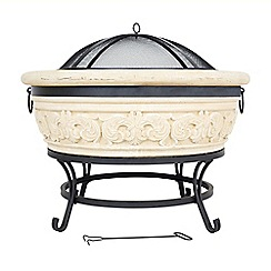 La Hacienda - Carved scroll firepit