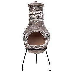 La Hacienda - Clay maple leaf chimenea