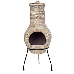 La Hacienda - Medium clay star flower chimenea