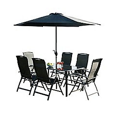 Debenhams - Black 'Havana' rectangular garden table and 6 chairs
