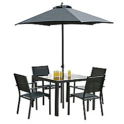 Debenhams - Black 'Torino' square garden table and 4 chairs