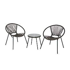 Debenhams - Grey 'Classico' garden side table and 2 chairs