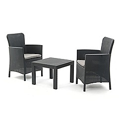 Debenhams - 'Miami' side table and 2 carver chairs