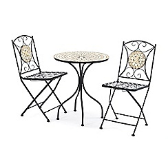 Debenhams - Mosaic inlay 'Casablanca' bistro set