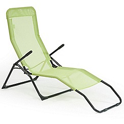 Debenhams - Lime green 'Siesta' reclining sunlounger