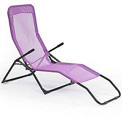 Debenhams - Purple 'Siesta' reclining sunlounger