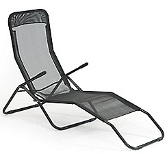 Debenhams - Black 'Siesta' reclining garden sunlounger