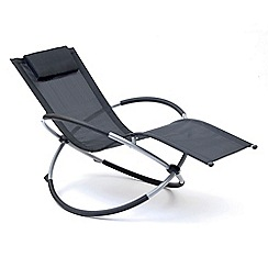 Debenhams - Black 'Orbit' sunlounger