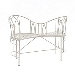 Debenhams - White 'Gloucester' loveseat bench