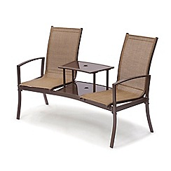 Debenhams - Brown 'Havana' garden duo seat