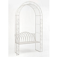 Debenhams - White 'Gloucester' arbour bench