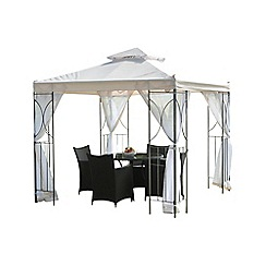 Debenhams - Cream 'Polenza' gazebo