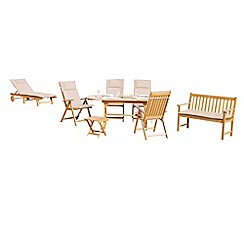 Debenhams - Acacia wood 'Summer' garden seating set