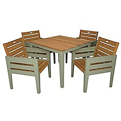 Debenhams - 'Verdi' square table and 4 carver chairs