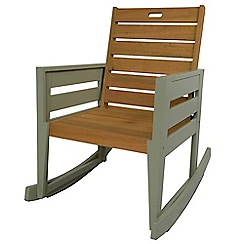 Debenhams - Green 'Verdi' outdoor rocking chair