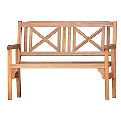 Debenhams - Acacia wood 'Lucia' folding garden bench