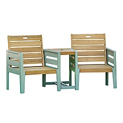 Debenhams - Green 'Verdi' garden duo bench