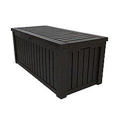 Debenhams - Brown wood effect 'Rockwood' garden storage box