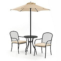 Debenhams - Steel 'Burley' garden bistro set with parasol